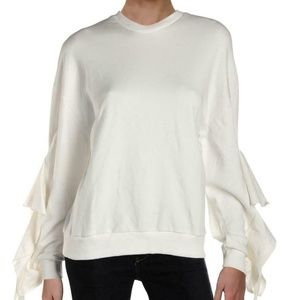 NWT JOA Los Angeles Ruffled Sleeve Sweatshirt Med